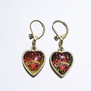 "Betsey Johnson Vintage ""Heartbreaker"" Earrings"